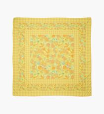 Watercolor Golden Daffodils and Matching Check Gingham Scarf