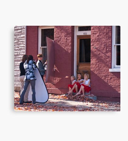 Photo Shoot for Little Girls Canvas Print