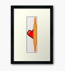 Heart through orange portal (version 1) Framed Print
