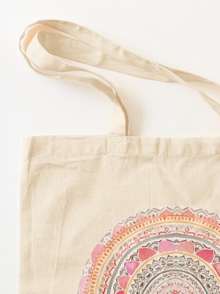Alternate view of Pastel Bohemian Mandala Tote Bag