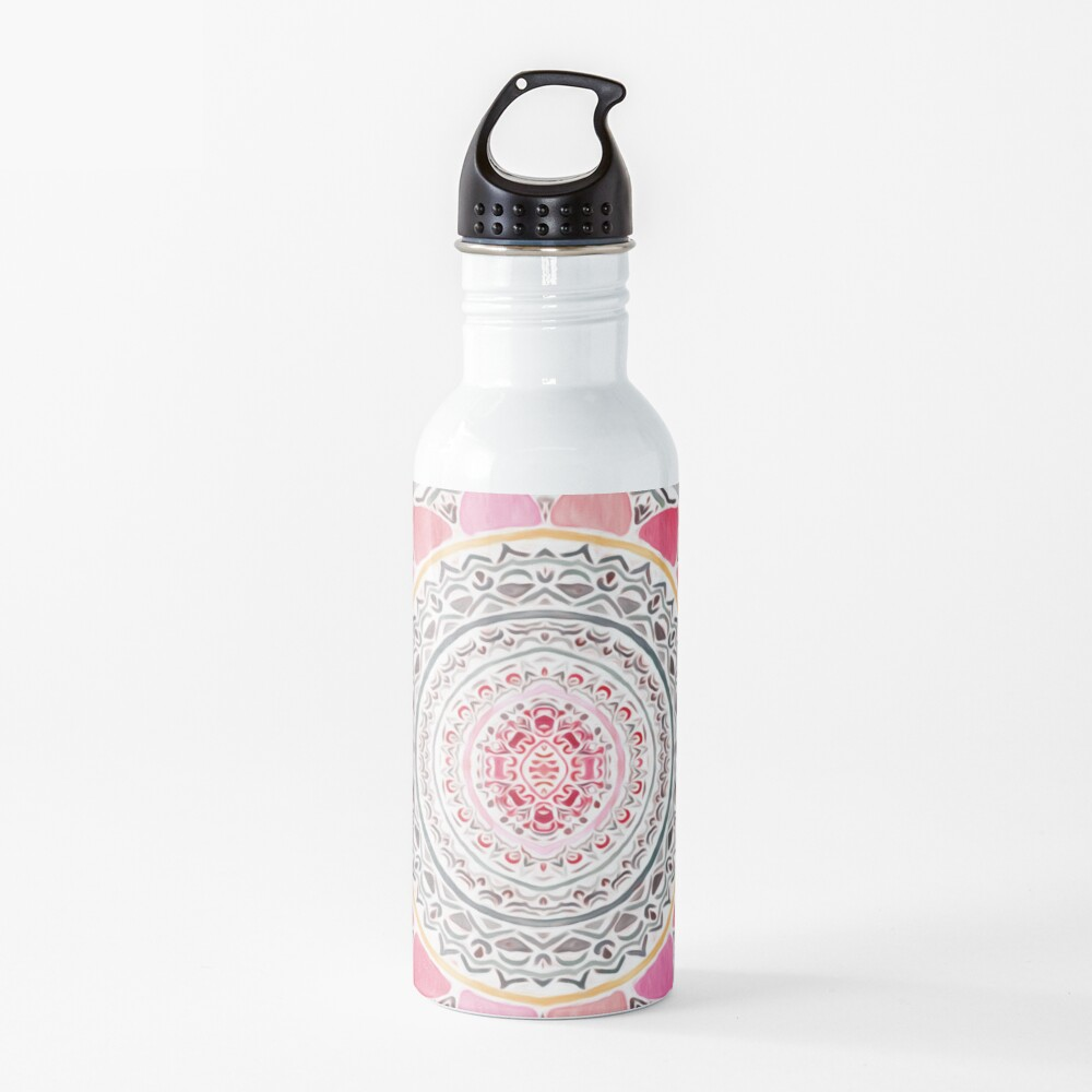 Pastel Bohemian Mandala Water Bottle