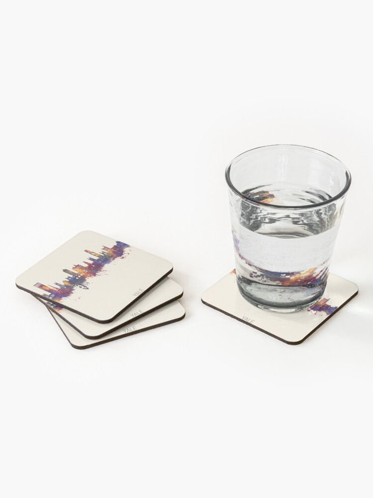 Alternate view of Yale Connecticut Skyline Coasters (Set of 4)