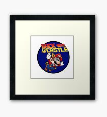 Mario - Back to the castle ! Framed Print