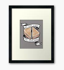 No One Likes The Tuna Here Framed Print