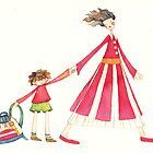 """Back to school, illustration of the story """"backpack"""" by vimasi"""