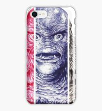 Creature From the Black Lagoon,  A ball point pen portrait.  iPhone Case/Skin