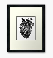 My Black Heart Framed Print