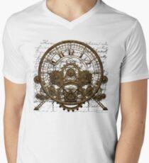 Vintage Steampunk Time Machine #1A Men's V-Neck T-Shirt