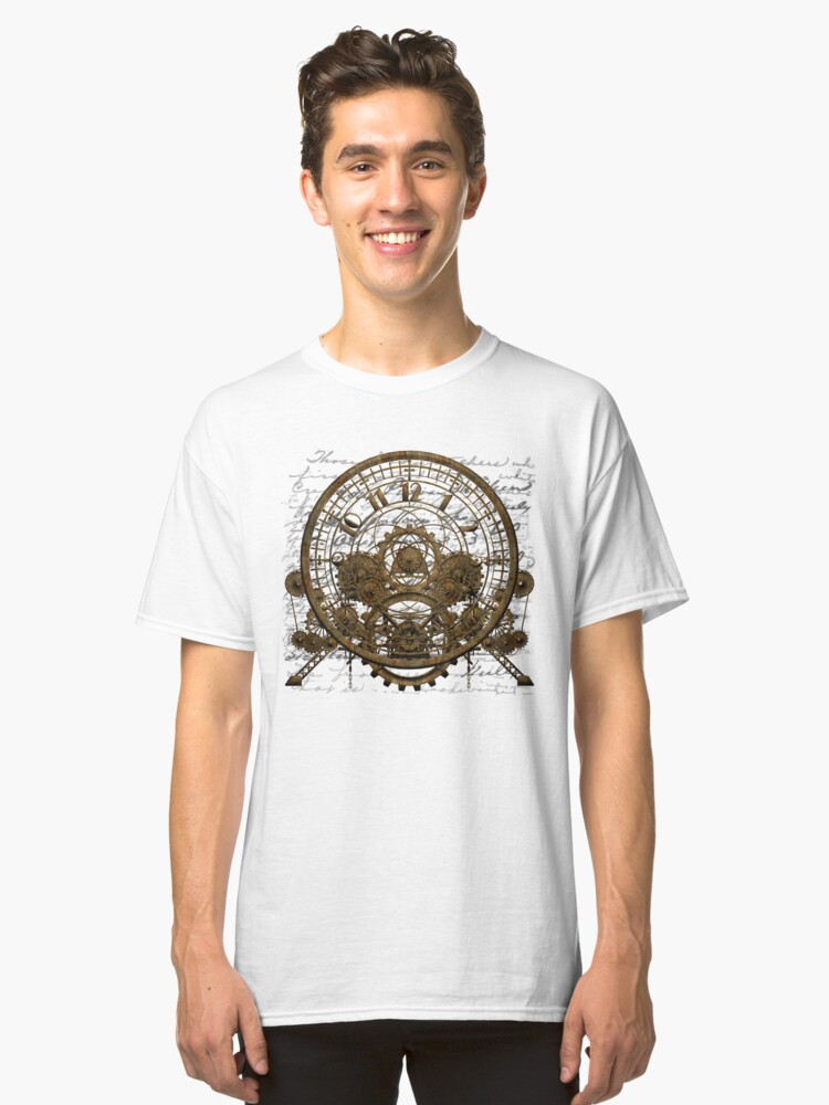 Vintage Steampunk Time Machine #1A Classic T-Shirt Front