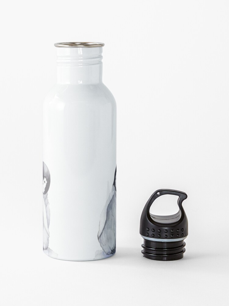 Alternate view of Cute gray baby penguins Water Bottle