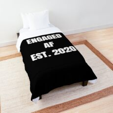 Engaged AF Est 2020 - Cute Proposal Wedding T Shirt and Gifts for Newlyweds  Tagesdecke