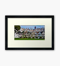 Iconic San Francisco with Painted Ladies Framed Print