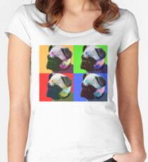 Pug Warhol Women's Fitted Scoop T-Shirt