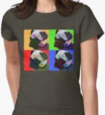 Pug Warhol Womens Fitted T-Shirt