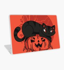 Black Cat Halloween Laptop Skin