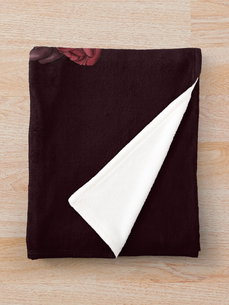 Alternate view of Powder Pink Coffin Throw Blanket
