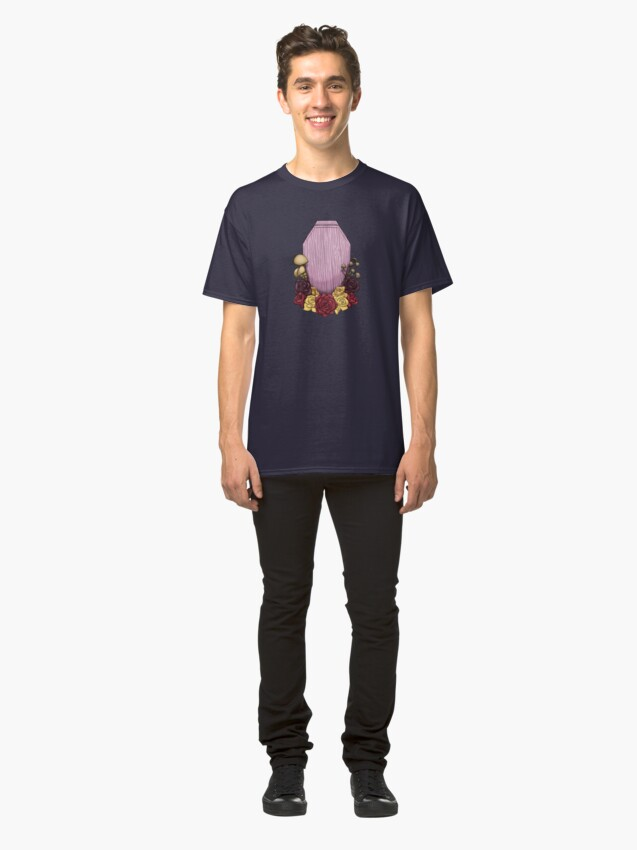 Alternate view of Powder Pink Coffin Classic T-Shirt