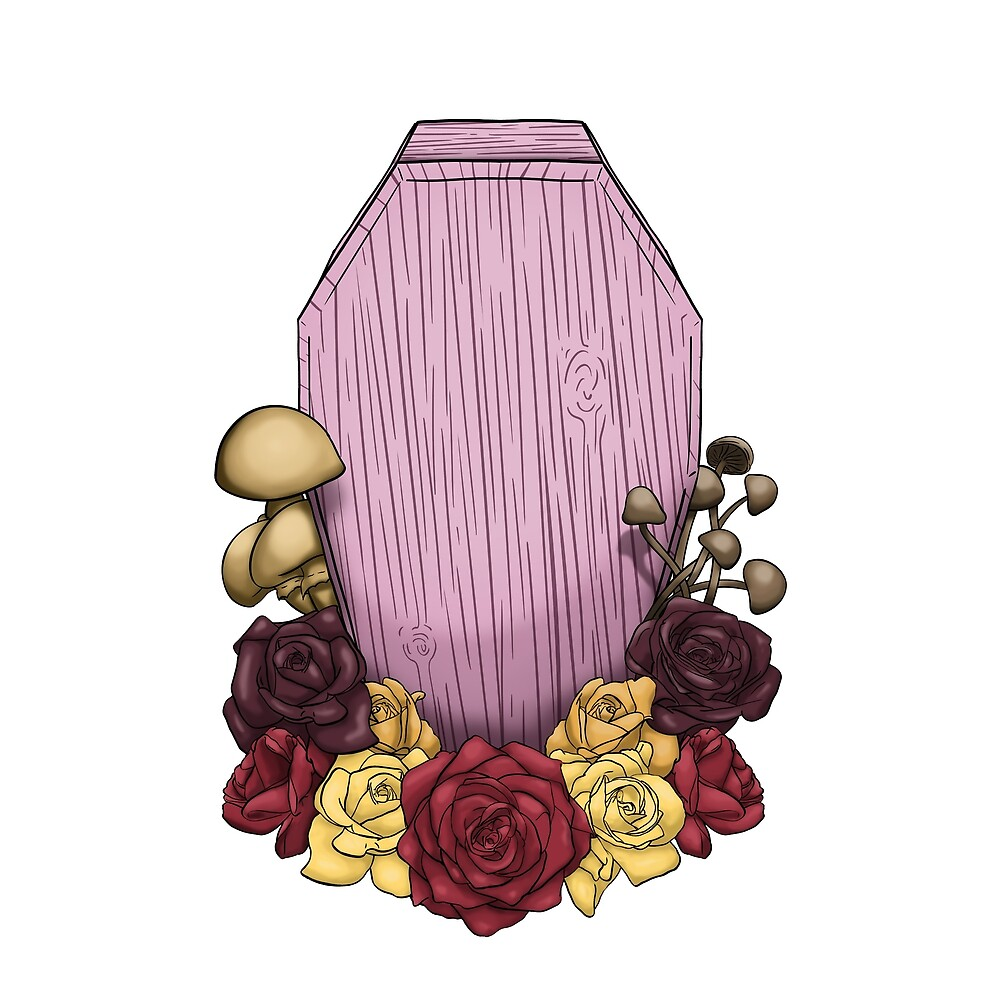 Powder Pink Coffin by clevercreature