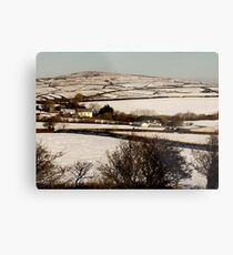 Christmas Eve Snow Scene One Metal Print