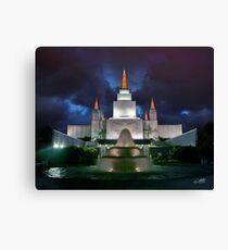 Oakland Temple Blue Sunset 20x24 Canvas Print
