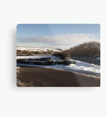 Christmas Eve Snow Scene Three Metal Print
