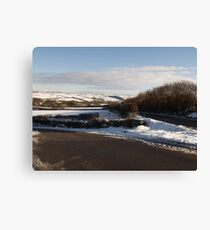 Christmas Eve Snow Scene Three Canvas Print