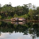 Huts at Diamond Narrows by Reef Ecoimages