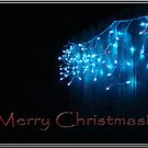 Blue Lights Christmas Card by Catherine  Howell