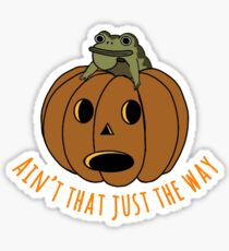 Jason thunderburker and potsfield pumpkin Sticker