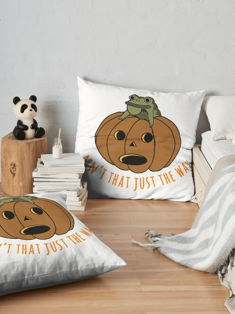 Alternate view of Jason thunderburker and potsfield pumpkin Floor Pillow