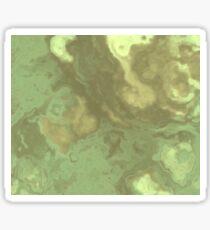 Light Green Fluid Sticker