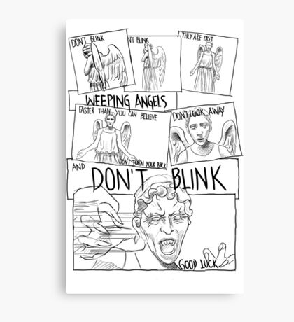Weeping Angel Comic Canvas Print