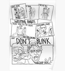 Weeping Angel Comic Poster