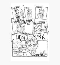 Weeping Angel Comic Photographic Print