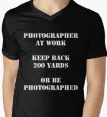 Photographer at work Men's V-Neck T-Shirt