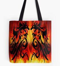 DRAGONS FIGHTING Tote Bag