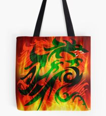 DRAGON IN FLAME Tote Bag