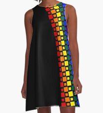 Pride Squares Vertical A-Line Dress