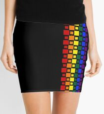 Pride Squares Vertical Mini Skirt