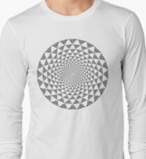 Stoic Flower - Black & White Long Sleeve T-Shirt