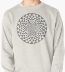 Stoic Flower - Black & White Pullover Sweatshirt