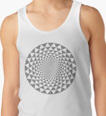 Stoic Flower - Black & White Tank Top