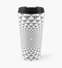 Stoic Flower - Black & White Travel Mug