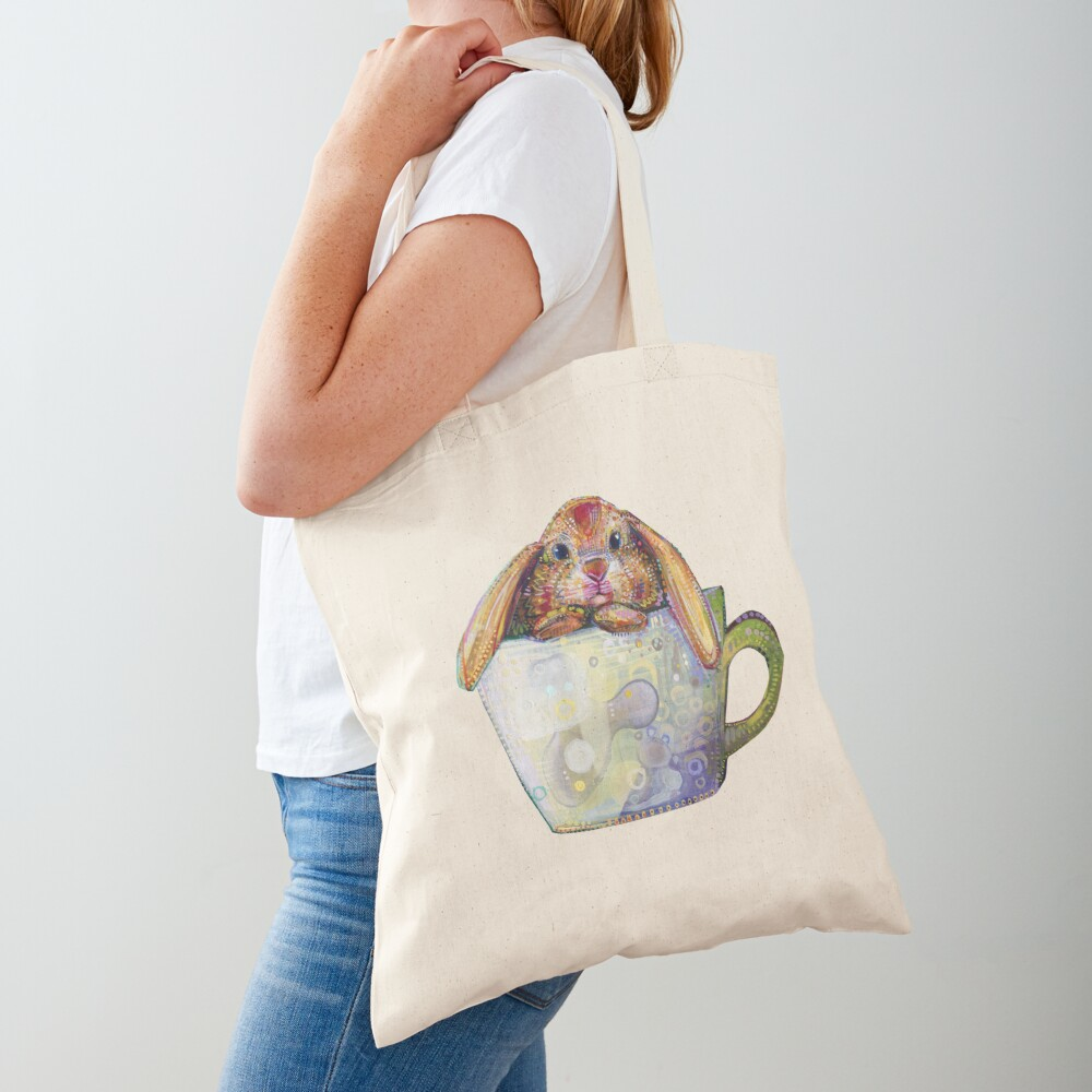 Bunny in a teacup painting - 2010 Tote Bag