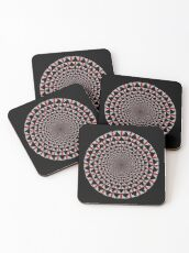 Stoic Flower - Red White Coasters