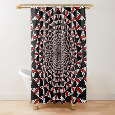 Stoic Flower - Red White Shower Curtain