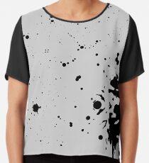 Abstract Blotches Chiffon Top