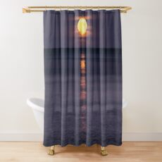 Full Moon Rise Shower Curtain