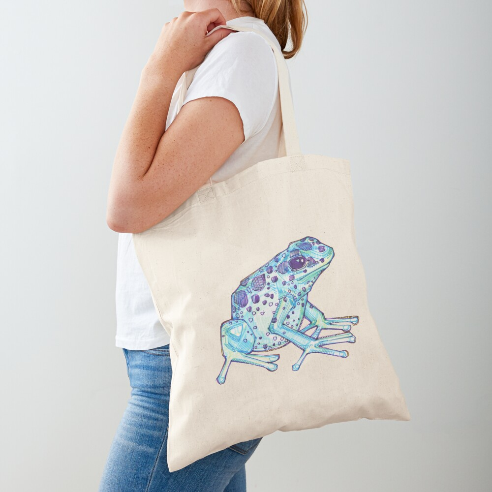 Blue poison dart frog drawing - 2017 Tote Bag