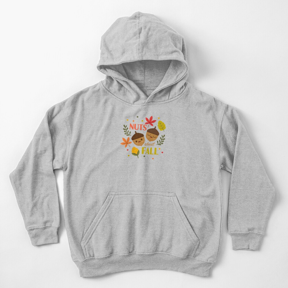 Nuts about Fall Kids Pullover Hoodie